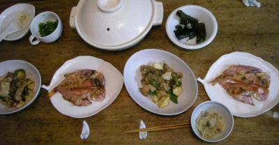炊込みご飯と焼きモノと炒めモノ 2008.5.2