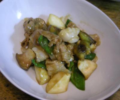 豚肉とホタテと野菜のオイスター炒め 2008.5.2