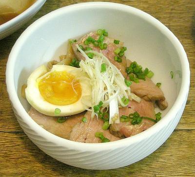 手作りチャーシュー丼!半熟卵付き! 2008.5.5