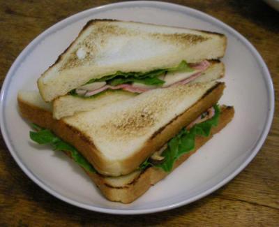 ハムとエリンギのサンドイッチ 2008.5.6