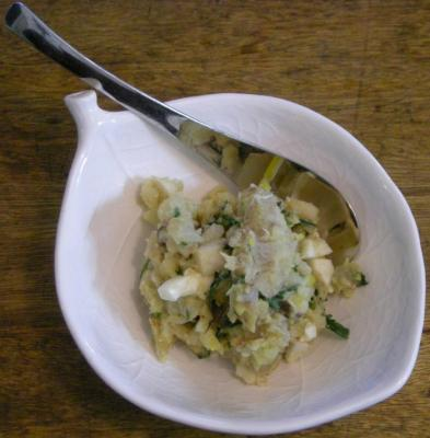 今夜は洋食屋さん!なデリカテッセン。ジャガイモとアンチョビのサラダ2008,5.10