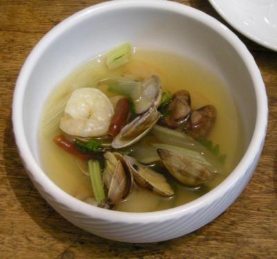 あさりと海老のトムヤンクン風スープ 2008.5.11