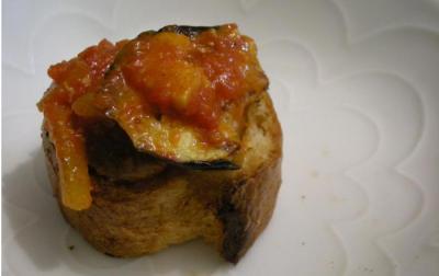 トマト煮とブルスケッタ 2008.5.15