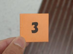 栄光の「3」番整理券