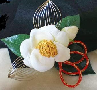 白椿の髪飾り