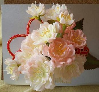 王妃桜の髪飾り