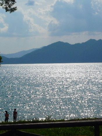 おらえから望む田沢湖
