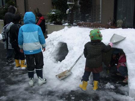 かまくら作り(2008/2/3)