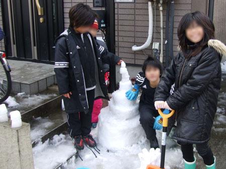 雪のケーキ(2008/2/10)