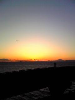 海ほたるからの夕日