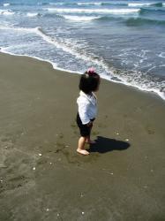 初めての波