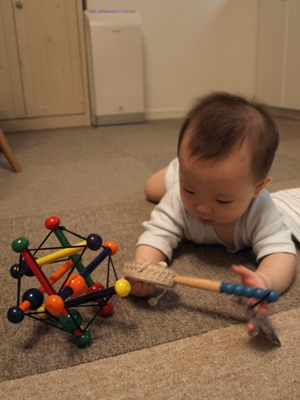 おもちゃで遊ぶTsubakiくん
