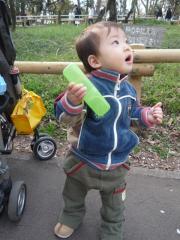 公園でアンヨ