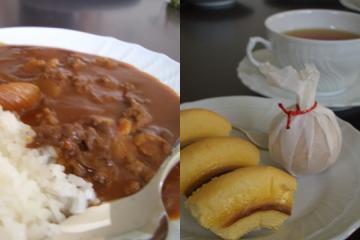 ハヤシライスとデザート
