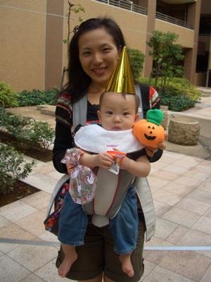 ハロウィンのyocchanとTsubaki