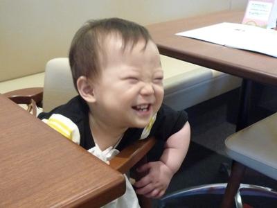 すごい笑顔