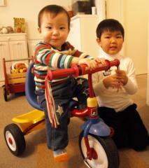 三輪車試乗
