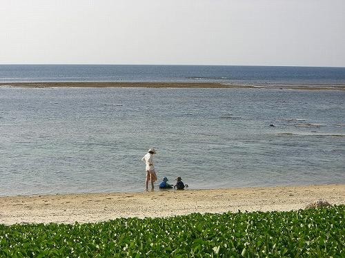 石垣のビーチ