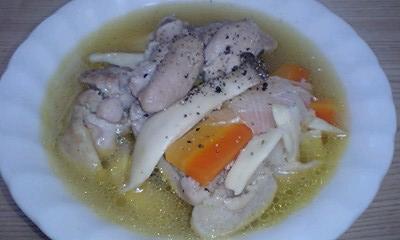 鶏とエリンギのバーベキュースープ
