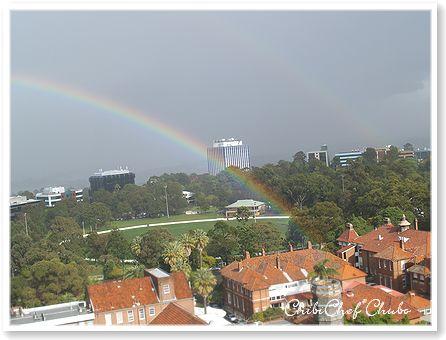 我が家から見た虹inSydney