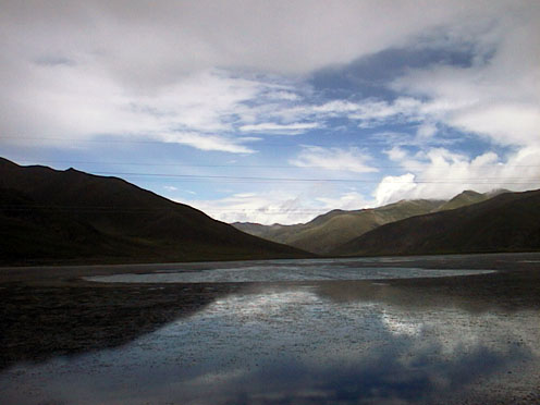 035カロー峠からの帰りヤムドゥク湖#