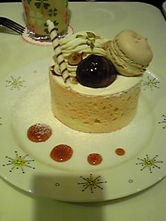 キャラメルマロンシフォンケーキ