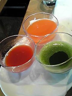 三種のジュース