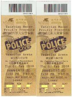 the police macau ticket