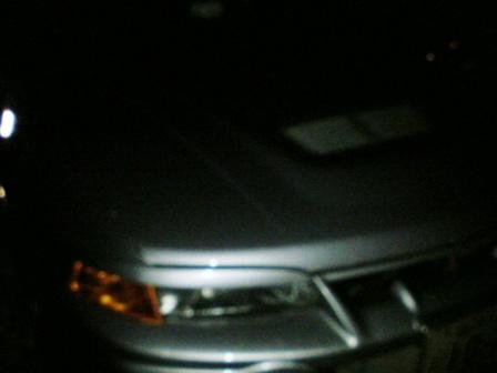 夜中の駐車場