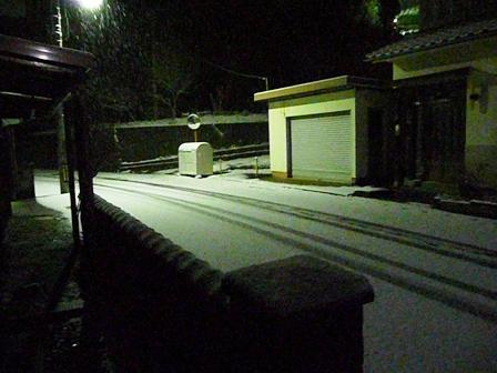1月11日 積雪