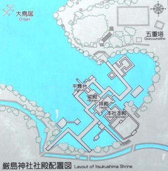 厳島神社配置図
