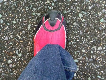 メッシュの靴