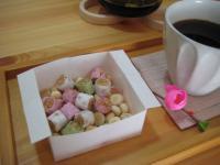 ひな菓子とコーヒー