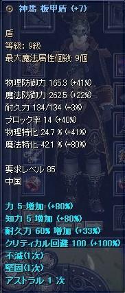 85+7の盾SS