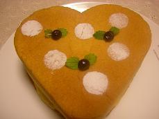 2008.9.23  ハートのスポンジケーキ