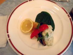 真鱈のパン粉焼き自家製タルタルソース添え