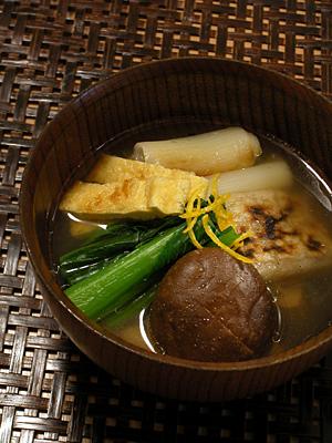 鶏ガラ出汁のお雑煮