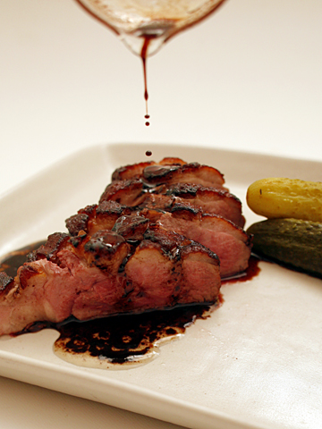 岩井食堂風鴨肉のグリル:バルサミコソース