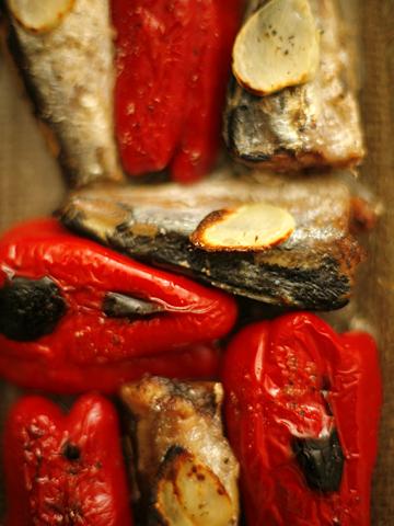 赤ピーマン&オイルサーディン焼き:トップ
