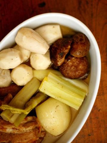 ちりめんキャベツの和風根菜ポトフ:根菜