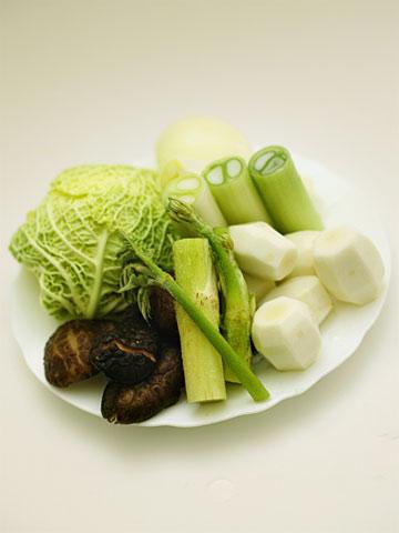 ちりめんキャベツの和風根菜ポトフ:素材