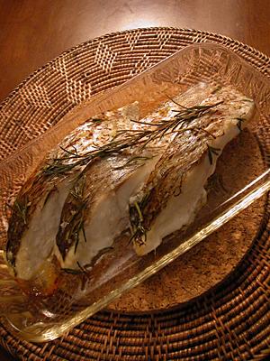 鯛のオーブン焼き(ローズマリー風味)