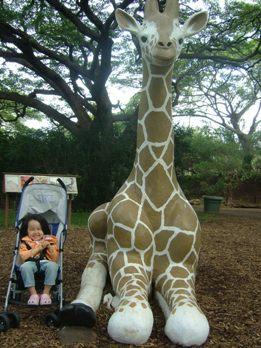 動物園(キリン像)