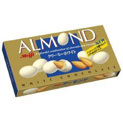 明治製菓、ロングセラーブランド「アーモンド」にホワイトチョコレートを使った新製品