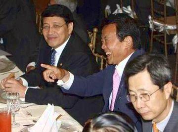 外交タロー:20070801ASEAN拡大外相会議2「ハッサン・ウィラユダ・インドネシア外務大臣と」