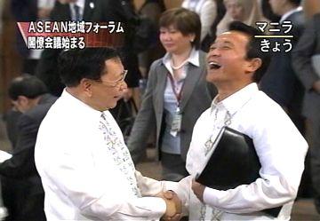外交タロー:20070802ARF=ASEAN地域フォーラム閣僚会議1「ロムロ外相と」