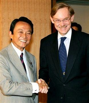 外交タロー:20070808ゼーリック世界銀行総裁と1
