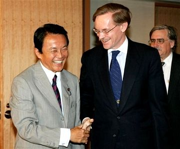 外交タロー:20070808ゼーリック世界銀行総裁と2