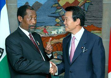 外交タロー:20070809日レソト外相会談2
