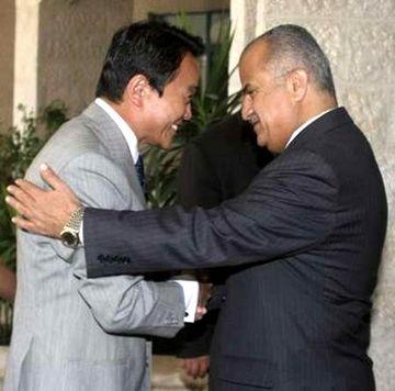 外交タロー:20070813ヨルダンのハティーブ外相と1